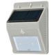 monban LEDセンサーウォールライト ソーラー発電式 グレー 2個入 [品番]06-4220