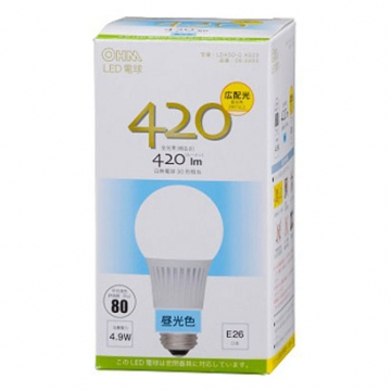 LED電球 E26 昼光色 [品番]06-2893