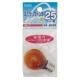 カラーミニクリプトン球 25形相当 S-35 E17 アンバー [品番]04-6033