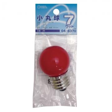 カラーボール球 G40 E26/7W レッド [品番]04-6370