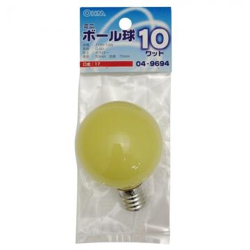 カラーミニボール球 E17 イエロー [品番]04-9694