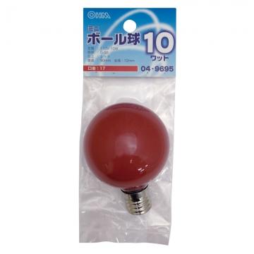 カラーミニボール球 E17 レッド [品番]04-9695