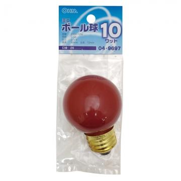 カラーミニボール球 E26 レッド [品番]04-9697