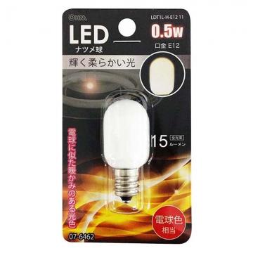 LEDナツメ球 常夜灯 E12 電球色 [品番]07-6462