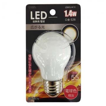 LED電球装飾用 PS/E26/1.4W/55lm/電球色 [品番]07-6476