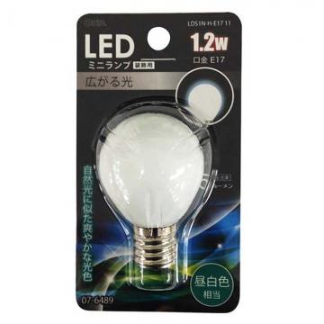 LED電球 装飾用 ミニランプ E17 昼白色 [品番]07-6489