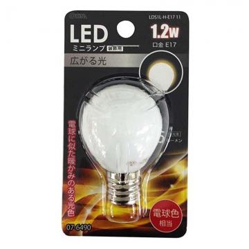 LED電球 装飾用 ミニランプ E17 電球色 [品番]07-6490