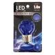 LED電球 装飾用 ミニボール E26 ブルー [品番]07-6509