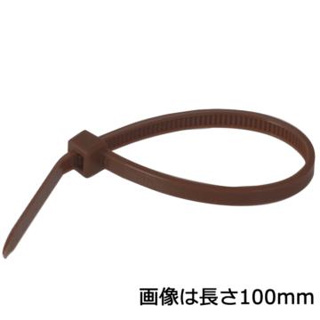 カラータイ 屋内用 300mm 50本入 茶 [品番]04-3106