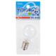 ミニクリプトン球 25形相当 PS-35 E17 ホワイト [品番]04-6302