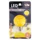 LED電球 装飾用 ミニボール E17 イエロー [品番]07-6507