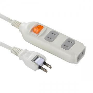 集中スイッチ付き 節電タップ 3個口 1m [品番]00-1282