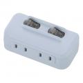 LED個別スイッチ付き 節電タップ 2個口 [品番]00-1758