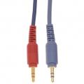 オーディオ接続コード ステレオミニプラグ-ステレオミニプラグ 抵抗入 1.5m [品番]01-2617
