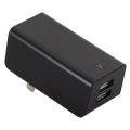 USB電源タップ 2ポート 黒 [品番]01-3330