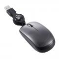 ブルーLED コードリールマウス Sサイズ ブラック [品番]01-3595