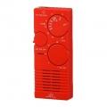 AudioComm AM/FM 2バンド ポケットラジオ 赤 [品番]07-3792