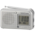 AudioComm AM/FM 液晶表示ハンディラジオ [品番]07-3838