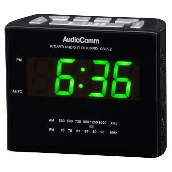 AudioComm AM/FMクロックラジオ [品番]07-3865