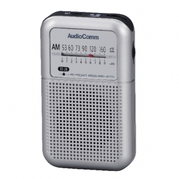 AudioComm AM専用ポケットラジオ [品番]07-5762