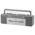 AudioComm AM/FM ダブルカセットレコーダー [品番]07-6401