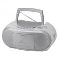 AudioComm CDラジカセ シルバー [品番]07-6428