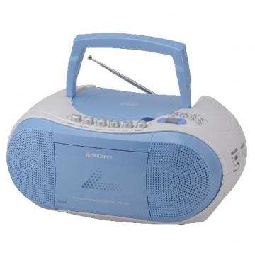 AudioComm CDラジオカセットレコーダー ブルー [品番]07-6429