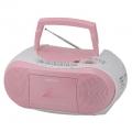 AudioComm CDラジカセ ピンク [品番]07-6430