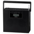 AudioComm ステレオCDラジオ ブラック [品番]07-7931