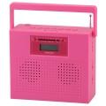AudioComm ステレオCDラジオ ピンク [品番]07-7932