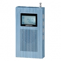 AudioComm PLL内蔵 AM/FMポケットラジオ ブルー [品番]07-8054
