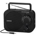 AudioComm AM/FM ポータブルラジオ 黒 [品番]07-8264