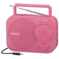 AM/FM ポータブルラジオ ピンク [品番]07-8265
