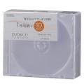 DVD/CDディスクケース 1枚収納×10パック 5mm クリア [品番]01-0675