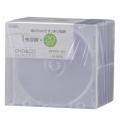 DVD/CDディスクケース 1枚収納×20パック 5mm クリア [品番]01-0678
