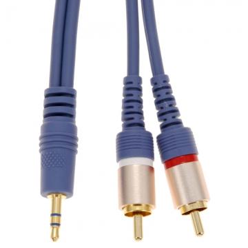 オーディオ接続コード φ3.5ミニプラグ-ピンプラグ×2 1.5m [品番]01-2619