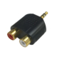 変換アダプター RCAピンジャックx2-φ3.5ステレオミニプラグ [品番]01-2645