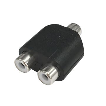 変換アダプター RCAピンジャックX2-RCAピンジャック [品番]01-3044