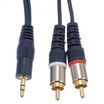 オーディオ接続コード φ3.5ミニプラグ-ピンプラグ×2 1.5m [品番]01-3086