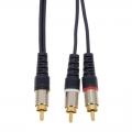 オーディオ接続コード ピンプラグ-ピンプラグ×2 3m [品番]01-3089