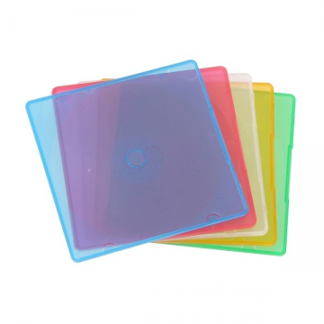 CD&DVDスリムケース 1枚収納 5パック [品番]01-3207