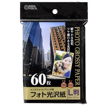 フォト光沢紙 L版 60枚入 [品番]01-3257