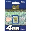 SDHCメモリーカード4GB [品番]01-3337
