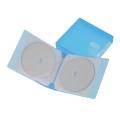 CD/DVDファイルケース 24枚収納 ブルー [品番]01-3381
