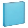 CD/DVDファイルケース 12枚収納 ブルー [品番]01-3489