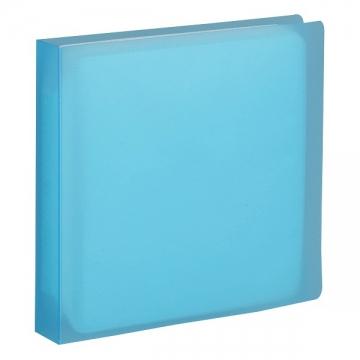 CD/DVDファイルケース ブルー 12枚収納 [品番]01-3489