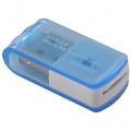 8in1マイクロSD専用リーダー ブルー [品番]01-3521