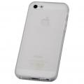 iPhone5用 セミハードケース ホワイト [品番]01-3611