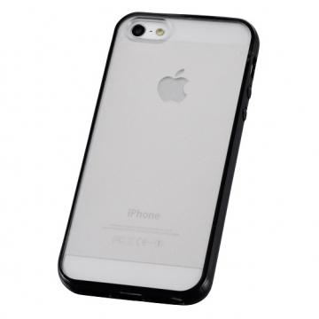 iPhone5用 ハイブリッドケース ブラック [品番]01-3622