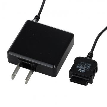 携帯電話用AC充電器 au専用 黒 [品番]03-3157